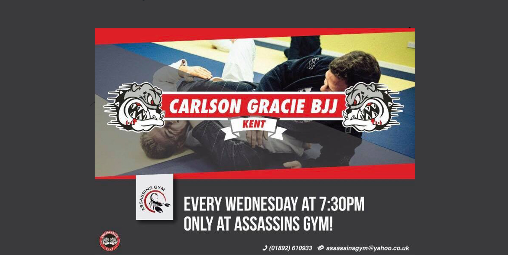 assassins gym, Carlson Gracie BJJ advert