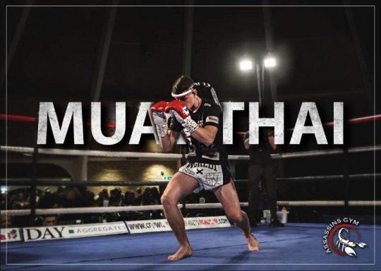 Muay Thai fighter at crowborough assassins gym